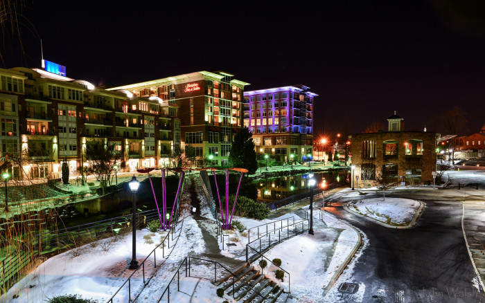 Greenville after winter snow fall
